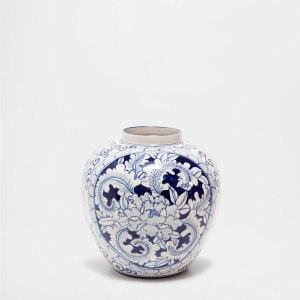 blue design vase